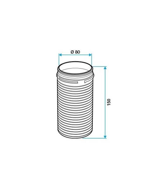 Kruhové prodloužžení D80 - 150mm