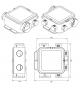 Větrací jednotka EasyHOME Hygro Compact - rozměry
